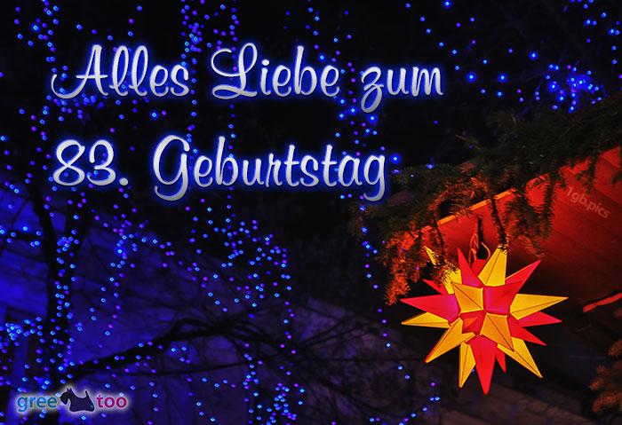 Stern Lichter Alles Liebe 83 Geburtstag Bild - 1gb.pics