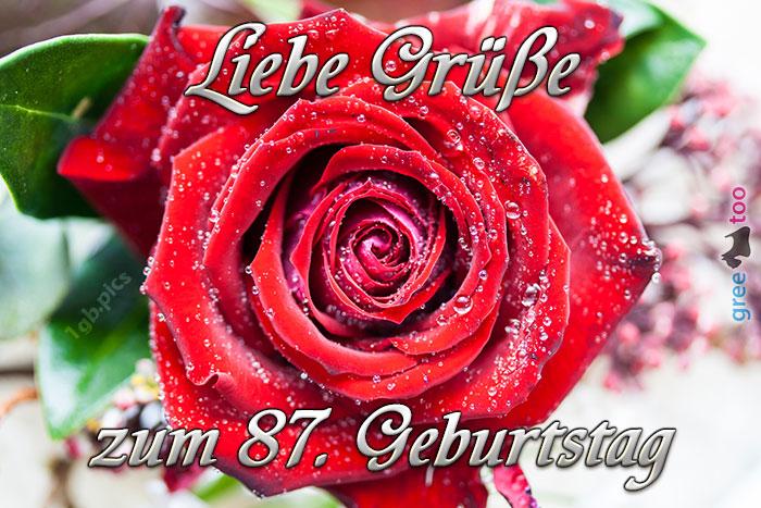 Zum 87 Geburtstag Bild - 1gb.pics