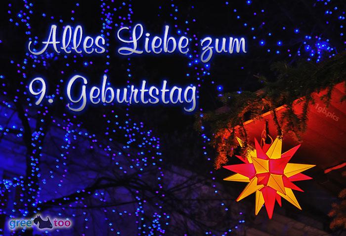 Stern Lichter Alles Liebe 9 Geburtstag Bild - 1gb.pics
