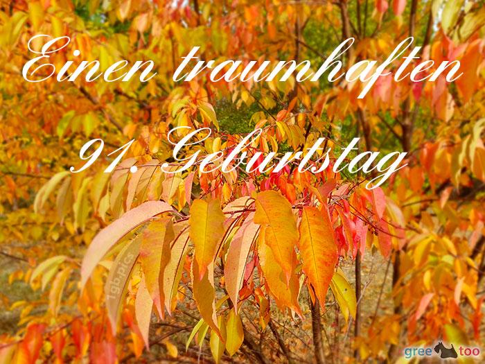 Einen Traumhaften 91 Geburtstag Bild - 1gb.pics