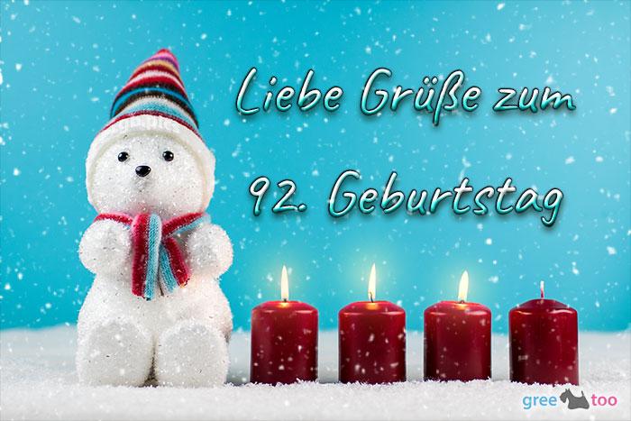 Liebe Gruesse Zum 92 Geburtstag Bild - 1gb.pics