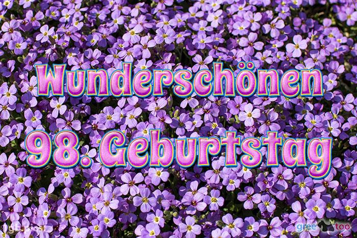 Wunderschoenen 98 Geburtstag Bild - 1gb.pics