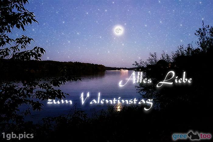 Mond Fluss Alles Liebe Zum Valentinstag Bild - 1gb.pics