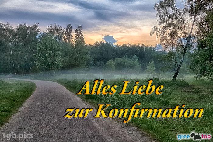 Nebel Alles Liebe Zur Konfirmation Bild - 1gb.pics
