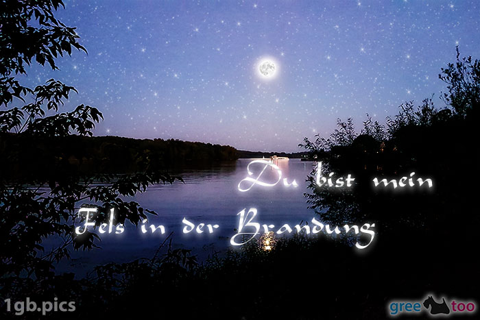 Mond Fluss Du Bist Mein Fels In Der Brandung Bild - 1gb.pics