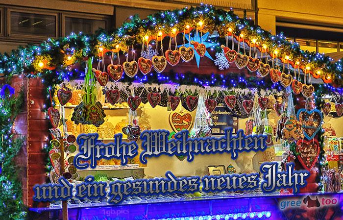 Weihnachtsmarktbude Frohe Weihnachten Gesundes Neues Jahr Bild - 1gb.pics