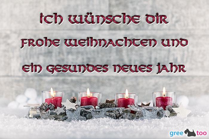 Adventskerzen 4 Frohe Weihnachten Gesundes Neues Jahr Bild - 1gb.pics