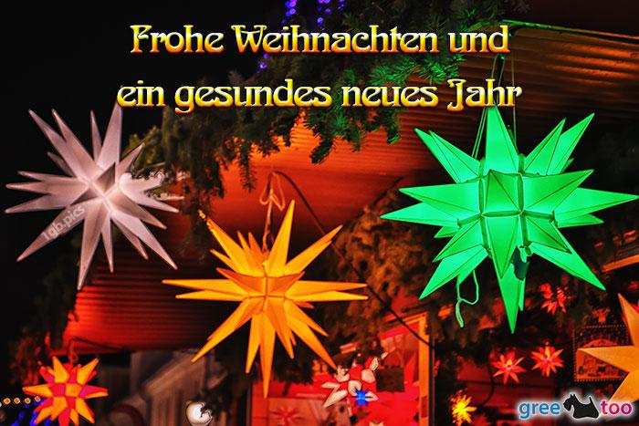 Weihnachtssterne Frohe Weihnachten Gesundes Neues Jahr Bild - 1gb.pics