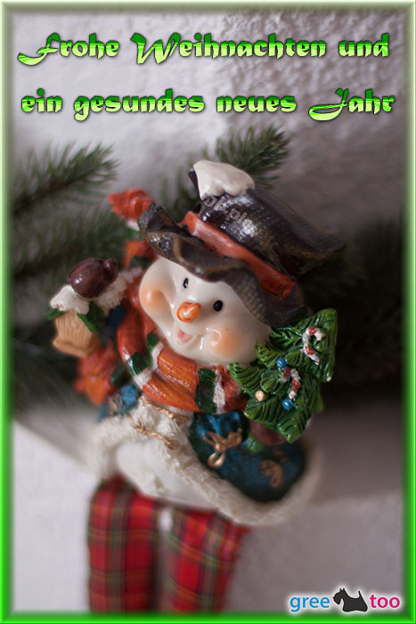 Schneemann Frohe Weihnachten Gesundes Neues Jahr Bild - 1gb.pics