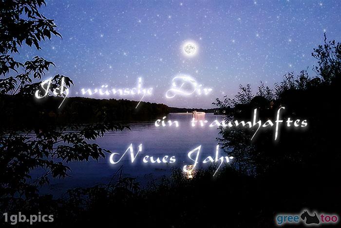 Mond Fluss Ein Traumhaftes Neues Jahr Bild - 1gb.pics