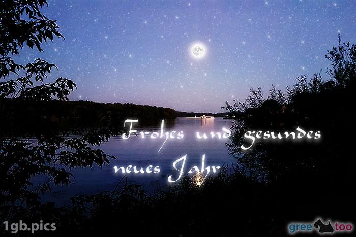 Mond Fluss Frohes Und Gesundes Neues Jahr Bild - 1gb.pics