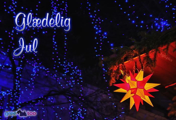 Stern Lichter Glaedelig Jul Bild - 1gb.pics