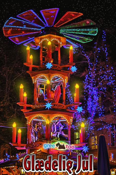 Weihnachtspyramide Glaedelig Jul Bild - 1gb.pics