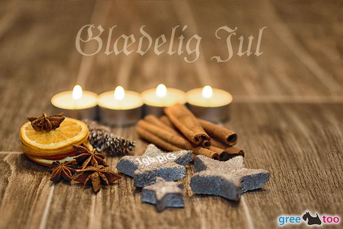 Advent Teelichter 4 Glaedelig Jul Bild - 1gb.pics