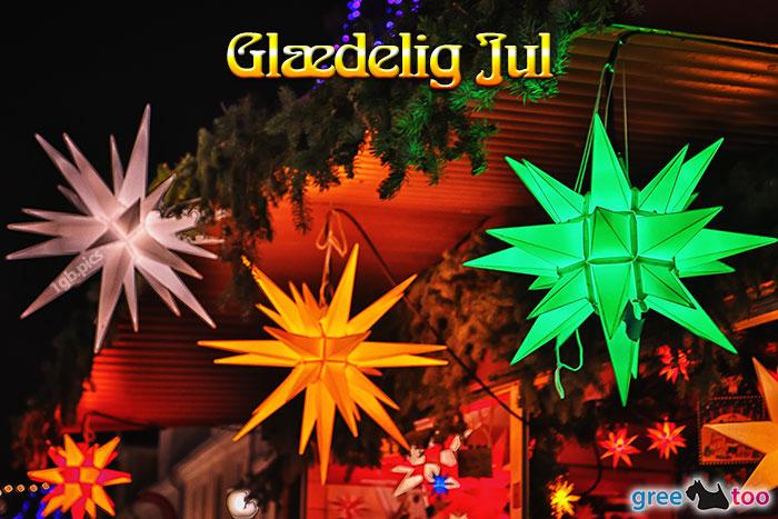 Weihnachtssterne Glaedelig Jul Bild - 1gb.pics