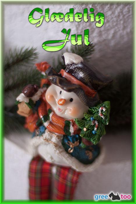Schneemann Glaedelig Jul Bild - 1gb.pics