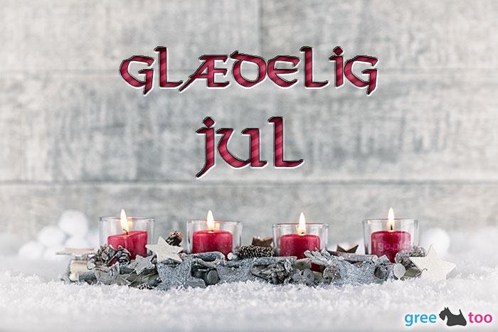 Adventskerzen 4 Glaedelig Jul Bild - 1gb.pics