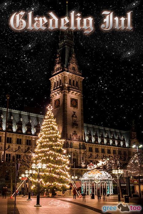 Weihnachtsrathaus Glaedelig Jul Bild - 1gb.pics