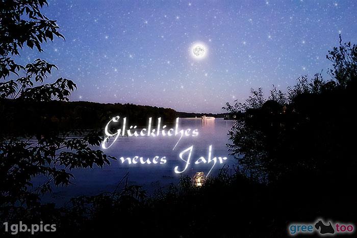 Mond Fluss Glueckliches Neues Jahr Bild - 1gb.pics