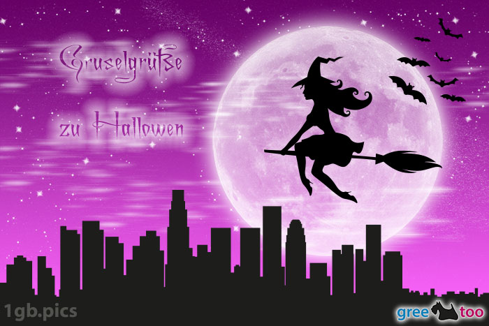 Hexe Gruselgruesse Zu Halloween Bild - 1gb.pics