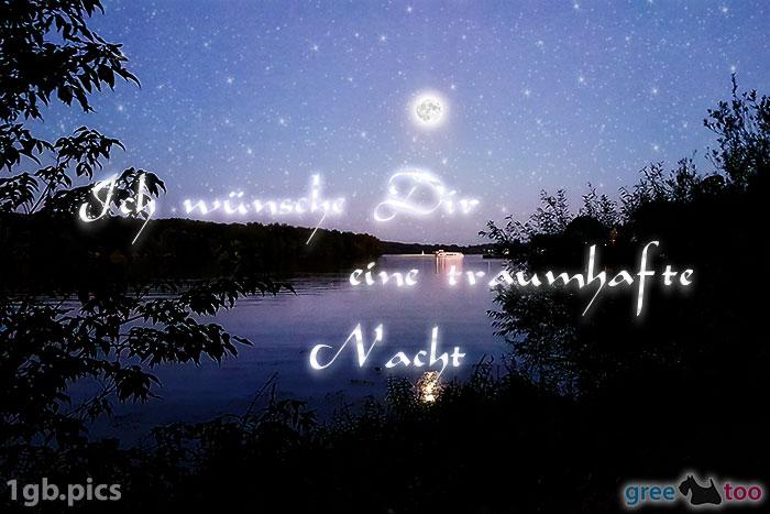 Mond Fluss Eine Traumhafte Nacht Bild - 1gb.pics
