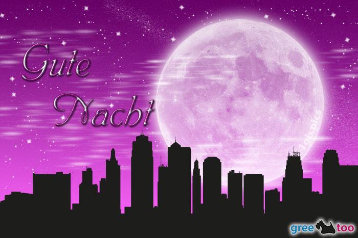 Mond Stadt Gute Nacht Bild - 1gb.pics