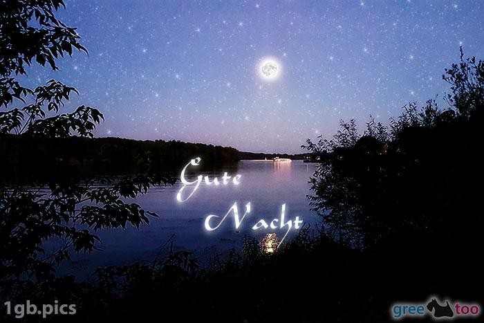 Mond Fluss Gute Nacht Bild - 1gb.pics