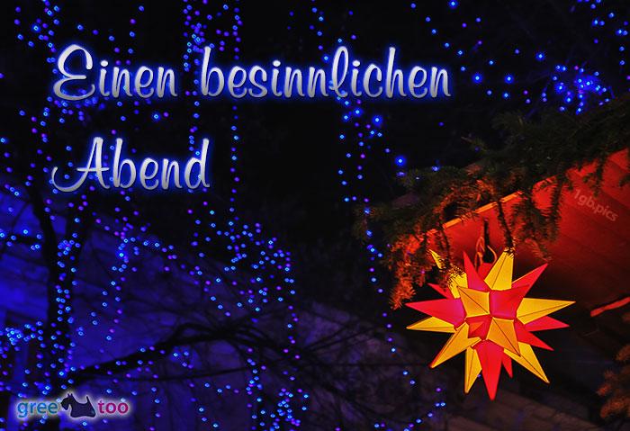 Stern Lichter Besinnlichen Abend Bild - 1gb.pics