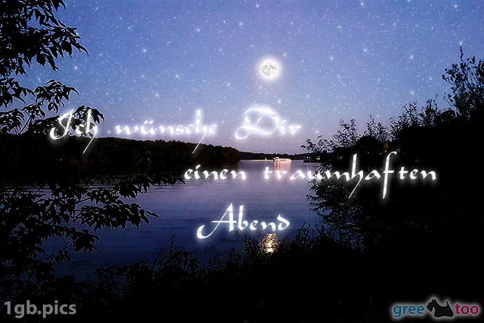 Mond Fluss Einen Traumhaften Abend Bild - 1gb.pics
