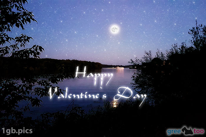 Mond Fluss Happy Valentines Day Bild - 1gb.pics