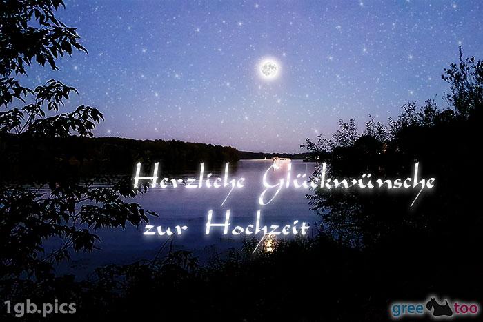 Mond Fluss Herzliche Glueckwuensche Zur Hochzeit Bild - 1gb.pics