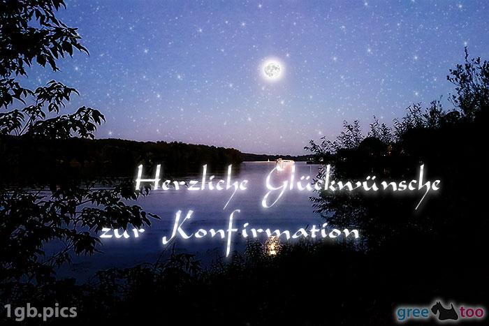 Mond Fluss Herzliche Glueckwuensche Zur Konfirmation Bild - 1gb.pics