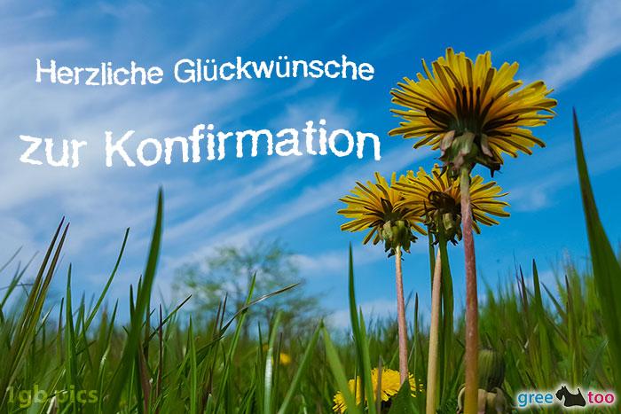 Loewenzahn Himmel Herzliche Glueckwuensche Zur Konfirmation Bild - 1gb.pics