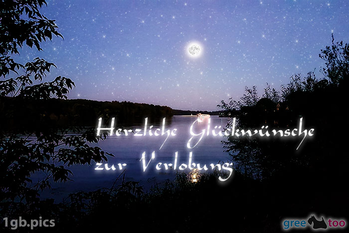 Mond Fluss Herzliche Glueckwuensche Zur Verlobung Bild - 1gb.pics