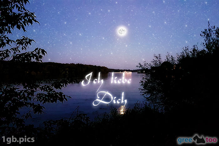 Mond Fluss Ich Liebe Dich Bild - 1gb.pics