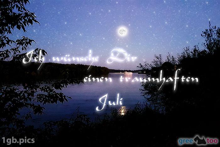 Mond Fluss Einen Traumhaften Juli Bild - 1gb.pics