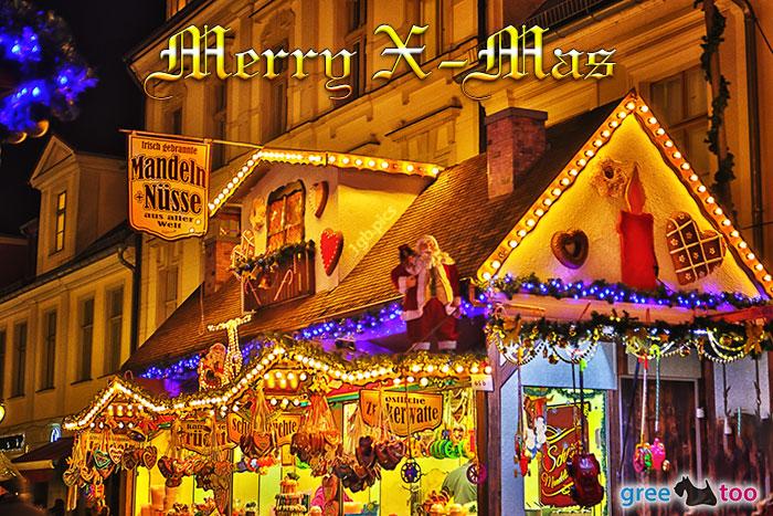 Weihnachtsmarkt Merry X Mas Bild - 1gb.pics