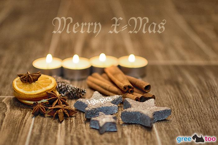 Advent Teelichter 4 Merry X Mas Bild - 1gb.pics