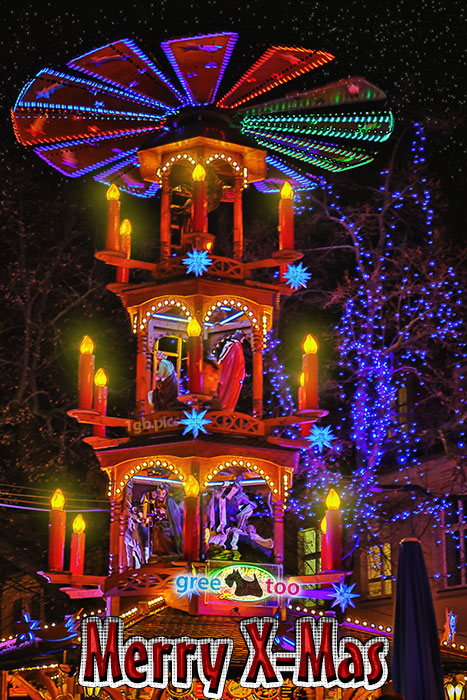 Weihnachtspyramide Merry X Mas Bild - 1gb.pics