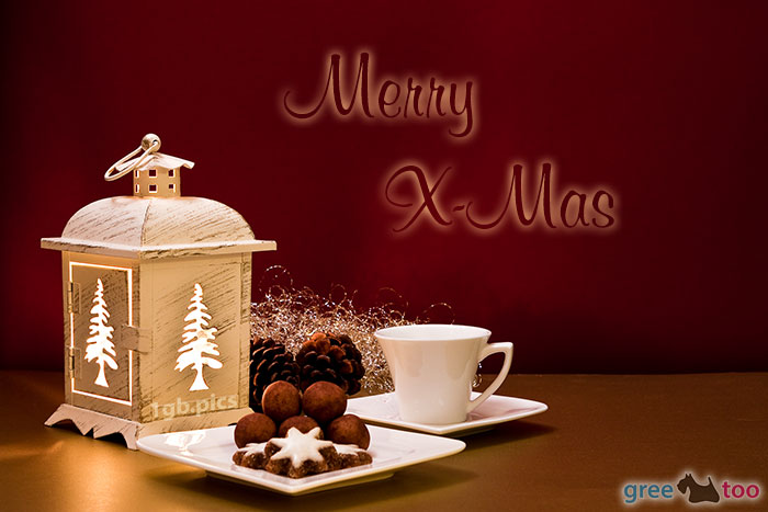 Weihnachtskaffee Merry X Mas Bild - 1gb.pics