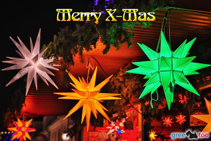 Weihnachtssterne Merry X Mas Bild - 1gb.pics