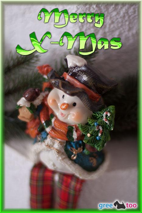 Schneemann Merry X Mas Bild - 1gb.pics