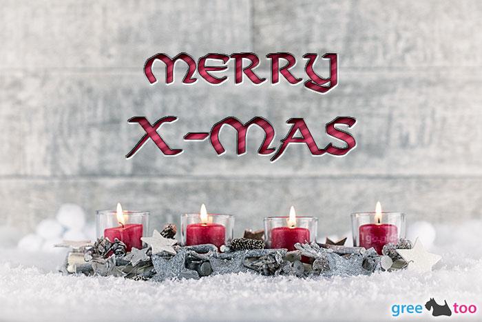 Adventskerzen 4 Merry X Mas Bild - 1gb.pics