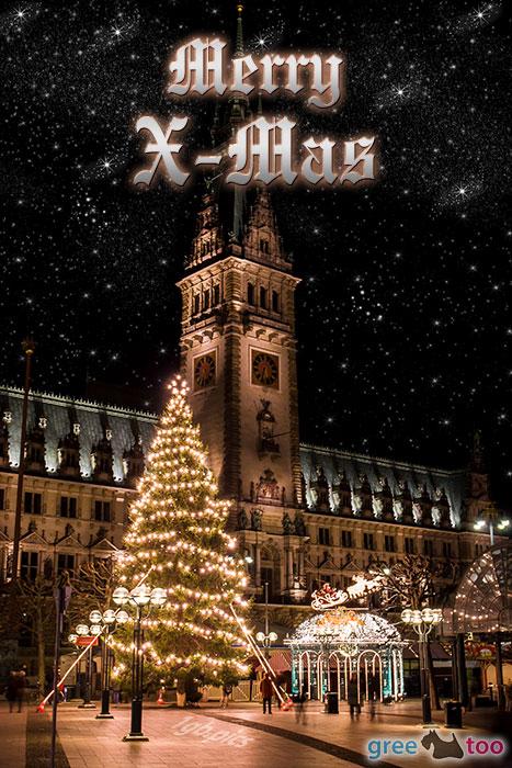 Weihnachtsrathaus Merry X Mas Bild - 1gb.pics