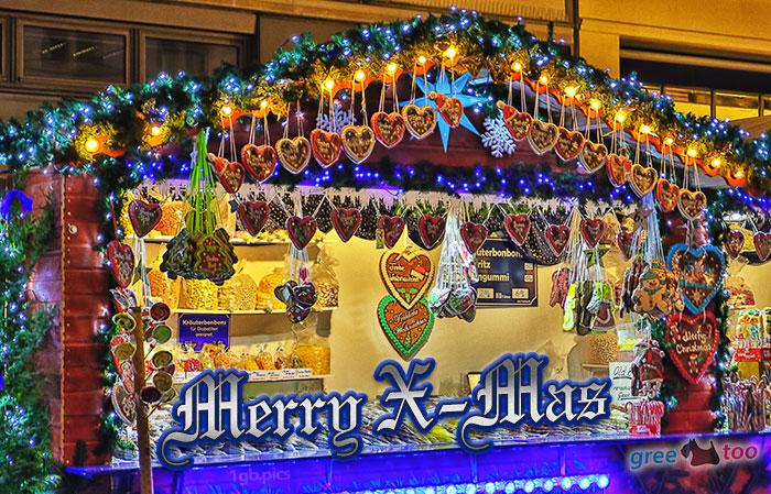 Weihnachtsmarktbude Merry X Mas Bild - 1gb.pics