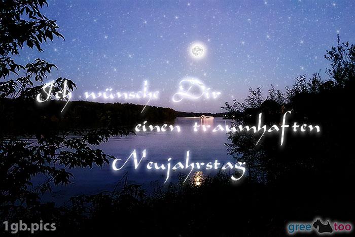 Mond Fluss Einen Traumhaften Neujahrstag Bild - 1gb.pics