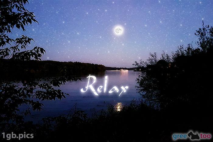 Mond Fluss Relax Bild - 1gb.pics