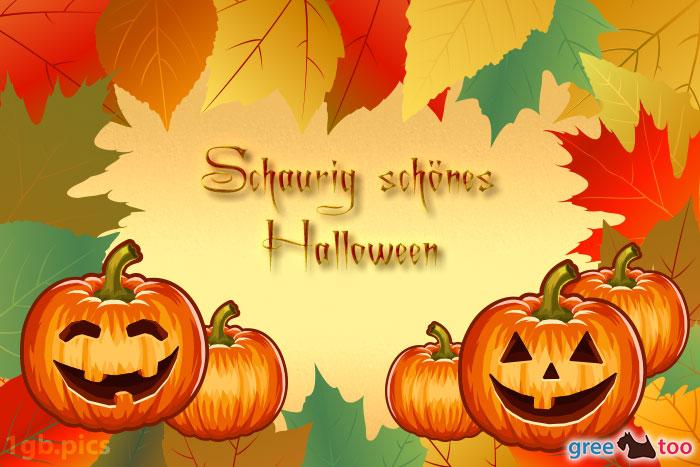 Herbstblaetter Kuerbis Schaurig Schoenes Halloween Bild - 1gb.pics