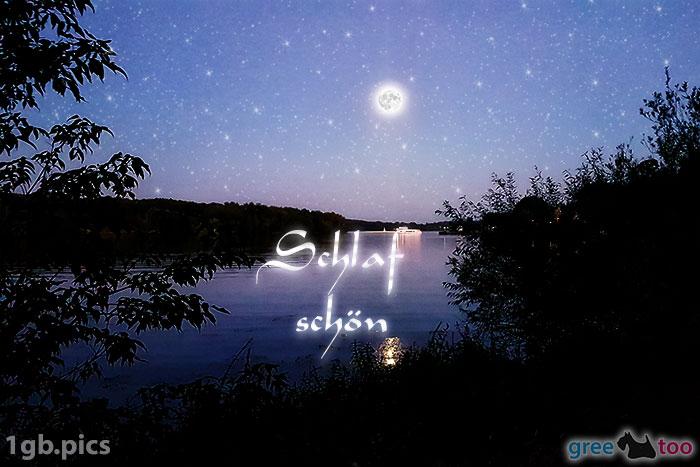 Mond Fluss Schlaf Schoen Bild - 1gb.pics
