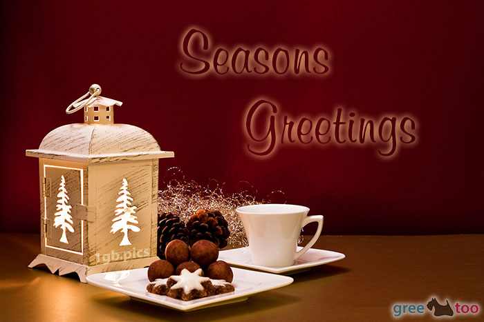 Weihnachtskaffee Seasons Greetings Bild - 1gb.pics